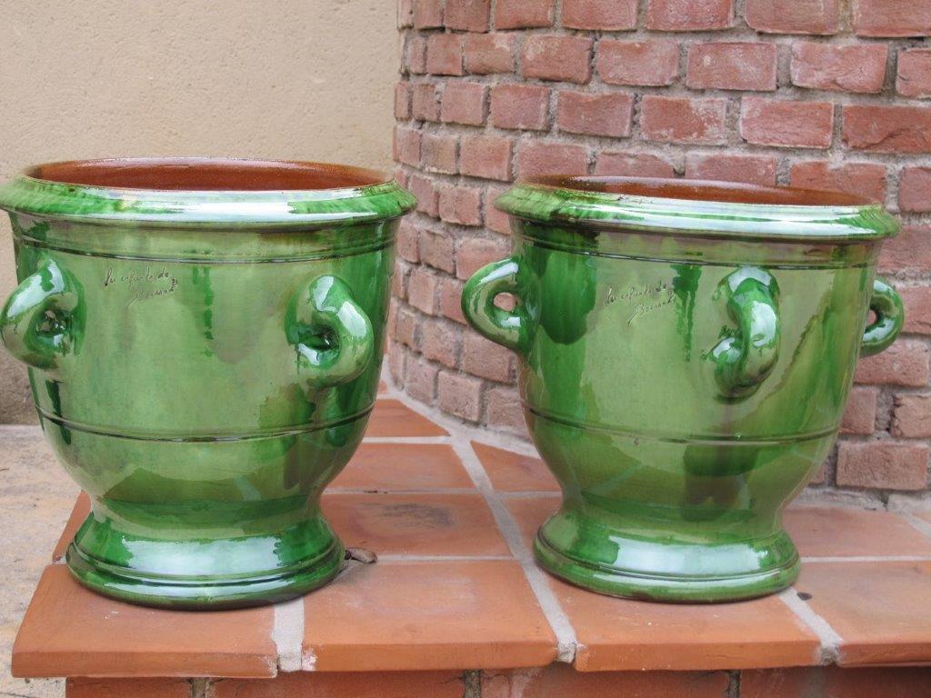Vases à anses-Poterie d'Anduze -Les Enfants de Boisset