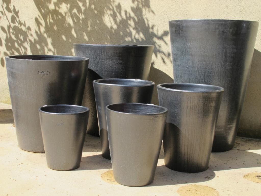 Déclinaison de cuviers : noir mat-Poterie d'Anduze -Les Enfants de Boisset